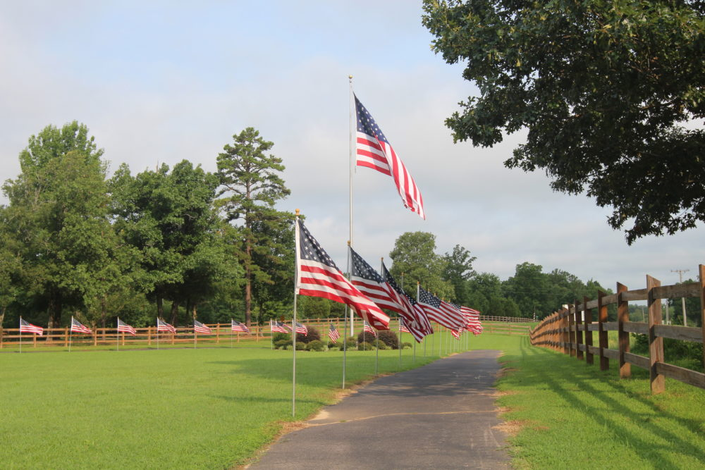 flags and Villa Trail